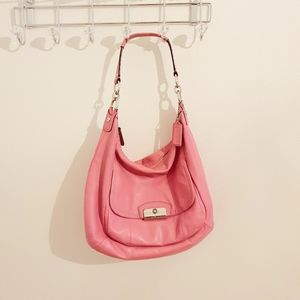 Coach Kristin Hobo Genuine Leather bag PINK